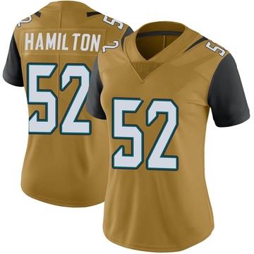 Women's Davon Hamilton Jacksonville Jaguars Nike Limited Color Rush Vapor Untouchable Jersey - Gold